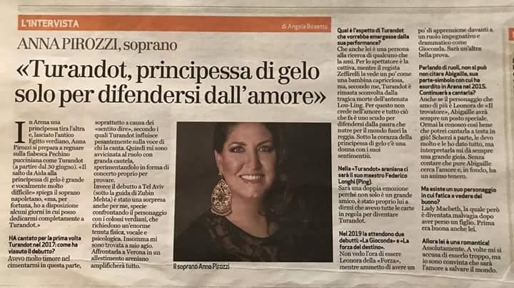 Anna Pirozzi/Turandot/Arena di Verona
